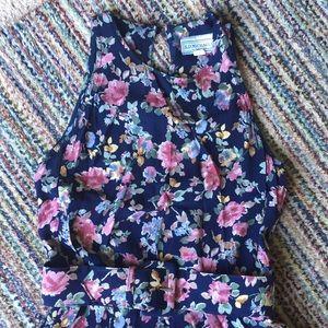 Dresses & Skirts - VINTAGE Rayon floral shift dress